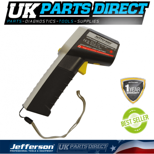 Jefferson Tools Infrared Thermometer Temperature Gun (-38 to 520°C) LCD Display