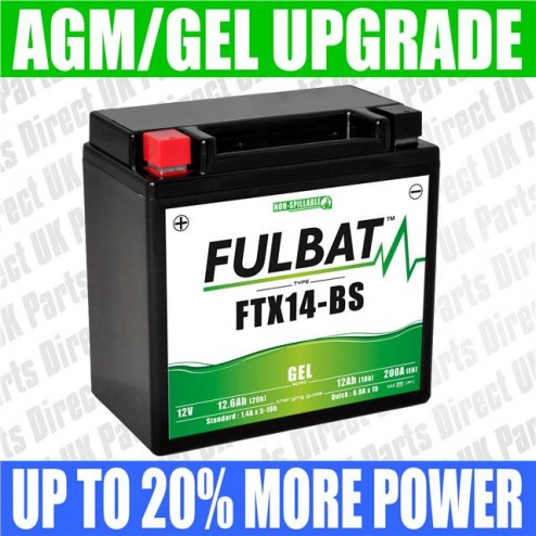 Aprilia Dorsoduro 900 (->2017) FULBAT GEL UPGRADE BATTERY - YTX14 - FTX14