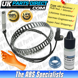 BMW 1 Series [E81/E82/E87/E88] ABS Reluctor Ring and ABS Sensor Kit (2003-2014) Rear - LIFETIME GUARANTEE