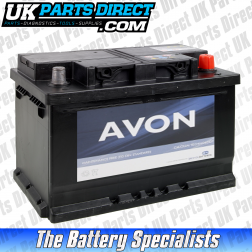 Avon Performance 075 Car Battery - 2 YEAR GUARANTEE
