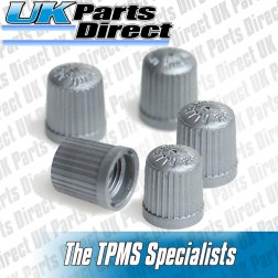 Nissan Silver Grey Plastic TPMS Safe Tyre Valve Caps