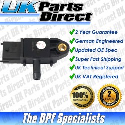 Vauxhall Cascada DPF Differential Pressure Sensor (2012->) - UPRATED SPEC