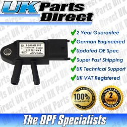 Renault Fluence DPF Differential Pressure Sensor (2014->) - UPRATED SPEC
