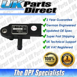 Fiat Bravo DPF Differential Pressure Sensor (2007-2009) [55198717] - UPRATED SPEC