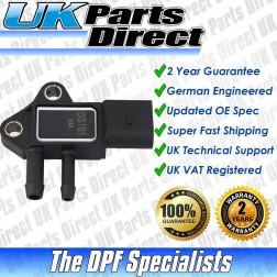 Skoda Fabia DPF Differential Pressure Sensor (2007-2010) [076906051A] - UPRATED SPEC