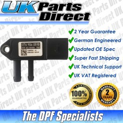 Skoda Superb DPF Differential Pressure Sensor (2008->) [059906051C / 076906051B] - UPRATED SPEC