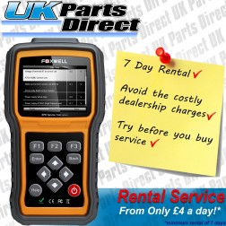Peugeot 5008 EPB Electronic Parking Brake Service Tool Rental Hire - Foxwell NT415 - 7 Day Rental