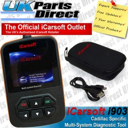 Cadillac (GM) Full System Diagnostic Scan Tool - iCarsoft i900