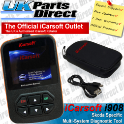 Skoda Full System Diagnostic Scan Tool - iCarsoft i908