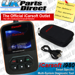 Smart Roadster Diagnostic Scan Tool - iCarsoft i980