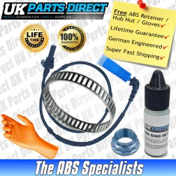 BMW 3 Series [E46] (NOT 330/M3) ABS Reluctor Ring and ABS Sensor Kit Rear - LIFETIME GUARANTEE