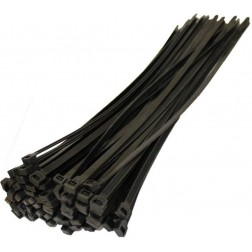 142 x 3.6mm Black Cable Ties