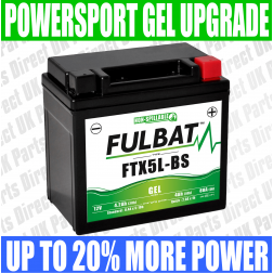 Jianshe Yamaha 5WY 100 FULBAT GEL UPGRADE BATTERY - YTX5L - FTX5L