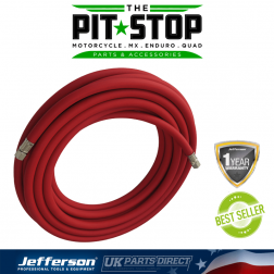 """Jefferson Tools 100m Rubber Alloy Airline Hose - 10mm - 1/4"""" Fitting"""
