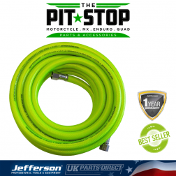 """Jefferson Tools 100m High-Vis Airline Hose - 10mm - 3/8"""" Fitting"""