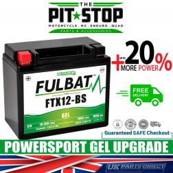 Triumph Bonneville T120 (1200cc) (2016->) FULBAT GEL UPGRADE BATTERY - YTX12 - FTX12