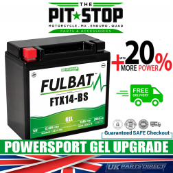 Ducati 1098 (2007) FULBAT GEL UPGRADE BATTERY - YTX14 - FTX14