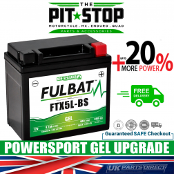 Arctic Cat 90-Y12 Youth (4 Stroke) FULBAT GEL UPGRADE BATTERY (03-06) - YTX5L - FTX5L
