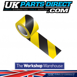 Safety Warning Hazard Tape - Strong Self Adhesive - 50mm x 50M - Black & Yellow