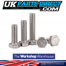 M10 x 50mm Hex Bolts - Stainless A2 - Qty.100