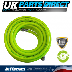 "Jefferson Tools 100m High-Vis Airline Hose - 10mm - 3/8"" Fitting"
