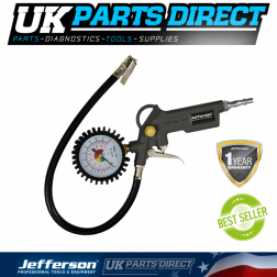 Jefferson Tyre Inflator With Flexible Connector - JEFG52