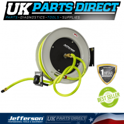 Jefferson Tools 15m Retractable High-Vis Reel Hybrid Hose