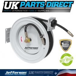 "Jefferson Tools 15M 3/8"" Auto Retracting Hose Reel"
