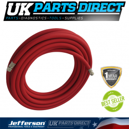 """Jefferson Tools 10m Rubber Alloy Airline Hose - 8mm - 1/4"""" Fitting"""