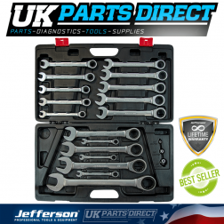 Jefferson Tools 20 Piece Combination Ratchet Spanner Set - LIFETIME WARRANTY