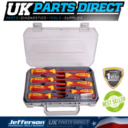Jefferson Tools 8 Piece VDE Screwdriver Set