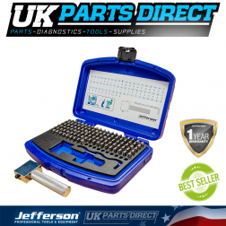 Jefferson Tools Number and Letter Punch 5mm 112pc Set