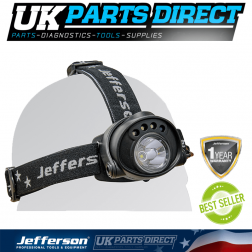 Jefferson Tools 200 Lumens Rechargeable Headlamp with Motion Sensor