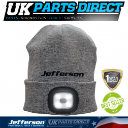 Jefferson Tools 160 Lumens LED USB Rechargeable Beanie Hat
