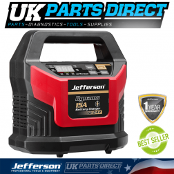 Jefferson Tools 15A Battery Charger 12-24V (20A 300sec Booster)