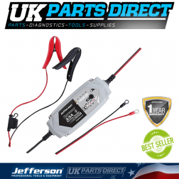 Jefferson Tools 3.5A Battery Charger 6-12V