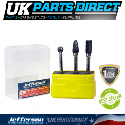 Jefferson Tools 3 Piece TCT Rotary Burrs