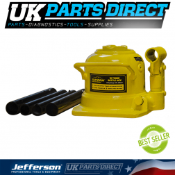 Jefferson Tools Tundra 10 Tonne Hydraulic Bottle Jack (Low Profile)