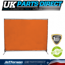 Jefferson 6x6ft Welding Curtain with Frame and Fittings - JEFCURTOR6X6FR