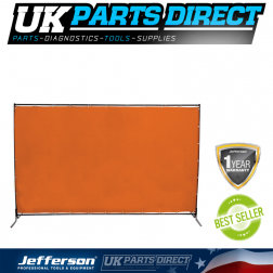 Jefferson 8x6ft Welding Curtain with Frame and Fittings - JEFCURTOR8X6FR
