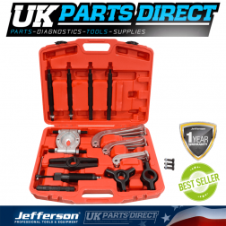Jefferson Tools 10 Tonne 23 Piece Hydraulic Puller Set