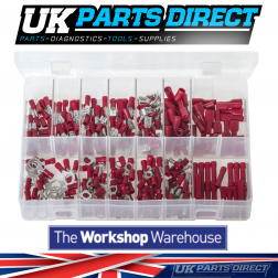 Insulated Terminals - Red - 260 Pieces - Assorted Box