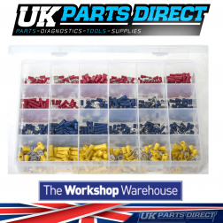 """Insulated Terminals - Red , Blue & Yellow - 600 Pieces - Assorted """"MAX"""" Box"""