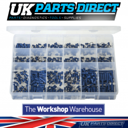 """Insulated Terminals - Blue - 600 Pieces - Assorted """"MAX"""" Box"""