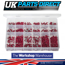 """Insulated Terminals - Red - 600 Pieces - Assorted """"MAX"""" Box"""
