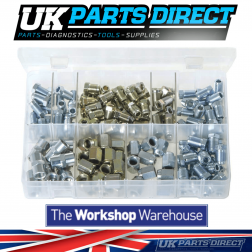 "Brake Nuts for 3/16"" Pipe - 150 Pieces - Assorted Box"