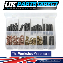 Exhaust Manifold Studs & Nuts - Metric - 72 Pieces - Assorted Box