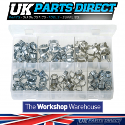 O-Clips - 2-Ear Clamps - 140 Pieces - Assorted Box