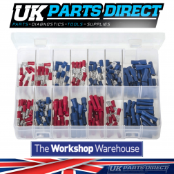 Insulated Terminals - Red & Blue - 210 Pieces - Assorted Box