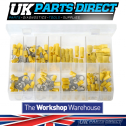 Insulated Terminals - Yellow - 110 Pieces - Assorted Box